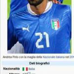 Foto – Calciomercato Juventus chiuso? Non per Wikipedia! Ecco dove andrebbe Pirlo!