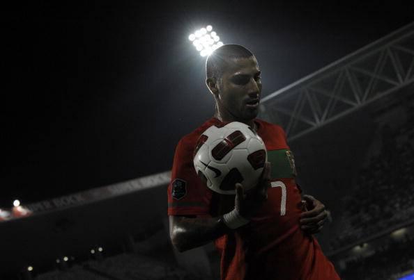 Portugal's Ricardo Quaresma reacts durin
