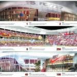 Roma, ecco come sarà il nuovo stadio: un po' Colosseo, un po' nido d'uccello