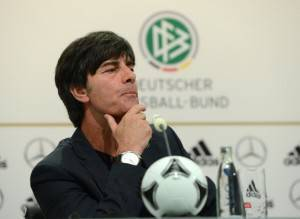 German headcoach Joachim Loew speaks dur