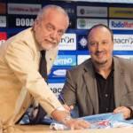 Napoli, De Laurentiis entusiasta di Benitez: 'In corsa su tre fronti con una rosa nuova'