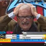 Video – Milan, Crudeli distrutto per il suo Milan: ecco il tifoso rossonero durante la gara con il Genoa