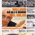 Gazzetta dello Sport: Galliani dà gli 8 giorni al Milan