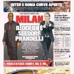 Gazzetta dello Sport: Milan, il derby è Seedorf Prandelli