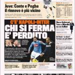 Gazzetta dello Sport: Chi si ferma è perduto