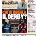 Gazzetta dello Sport: Chi si regala il derby?