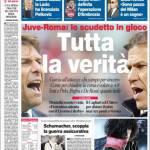 Corriere dello Sport: Juventus-Roma, lo scudetto in gioco