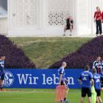 Foto- in Qatar Robben spia l'allenamento dello Schalke 04