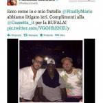 Clamoroso, rissa Facchinetti-Balotelli: ecco il tweet del presentatore