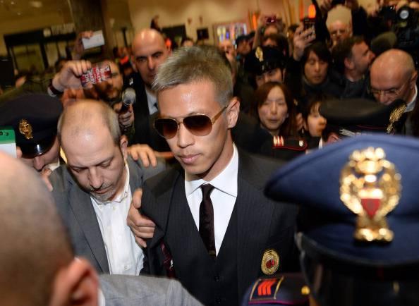 AC Milan New Signing Keisuke Honda Arrives In Milan