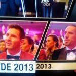 FOTO – Pallone d'Oro a Cristiano Ronaldo: Ribery e Messi reagiscono così