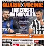 Gazzetta dello Sport – Guarin per Vucinic, interisti in rivolta