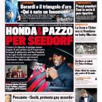 Gazzetta dello Sport – Honda & Pazzo per Seedorf