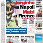 Corriere dello Sport: Jorginho a Napoli, Matri a Firenze