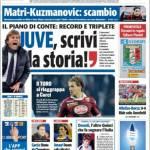 Rassegna stampa: TuttoSport – Juve, scrivi la storia