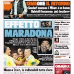 Gazzetta dello Sport – Effetto Maradona