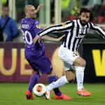Europa League, Fiorentina – Juventus 0-1: Una magia di Pirlo porta i bianconeri ai quarti