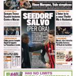 Gazzetta dello Sport – Seedorf salvo (per ora)