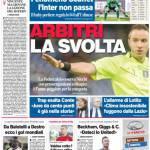 Corriere dello Sport – Arbitri, la svolta
