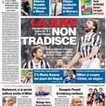 Corriere dello Sport – La Juve non tradisce