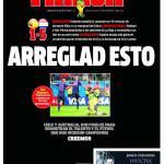 FOTO – Disfatta Spagna. Il quotidiano Marca in lutto con una prima pagina nera