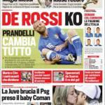 Rassegna stampa – Corriere dello Sport: De Rossi ko