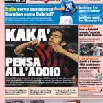 Rassegna Stampa: Gazzetta dello Sport – Kakà pensa all'addio