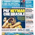 Gazzetta dello Sport – Più Neymar che Brasile