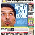 Tuttosport – Buffon urla 'Italia solo cuore'