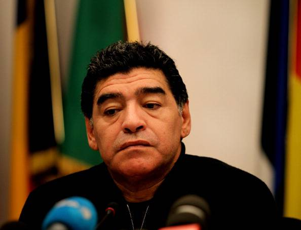 Diego Maradona Holds a Press Conference In Rome