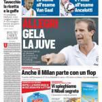 Corriere dello Sport – Allegri gela la Juve