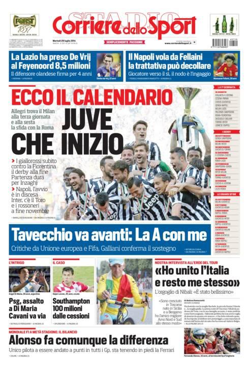 Corriere Dello Sport Calendario.Corriere Dello Sport Ecco Il Calendario Juve Che Inizio