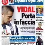 Tuttosport – Vidal porta in faccia