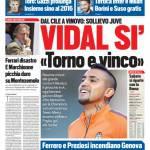 Tuttosport – Vidal sì 'Torno e vinco'
