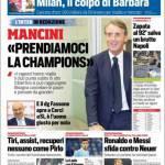 Corriere dello Sport – Mancini: 'Prendiamoci la Champions'!