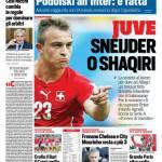 Corriere dello Sport – Juve Sneijder o Shaqiri