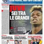 Corriere dello Sport – Juve sei tra le grandi