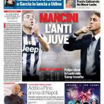 Corriere dello Sport – Mancini l'anti Juve