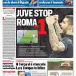 Corriere dello Sport – Juve stop, Roma a -1