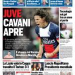 Corriere dello Sport – Juve, Cavani apre