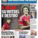 Corriere dello Sport – Il Milan su Witsel e Destro
