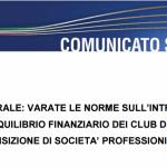 FIGC, varate le nuove norme sul Fair Play Finanziario
