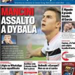 Corriere dello Sport – Mancini assalto a Dybala