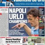 Corriere dello Sport – Napoli urlo Champions