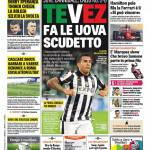 Rassegna Stampa: Gazzetta dello Sport – Tevez fa le uova scudetto