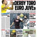 TuttoSport – Derby Toro, Euro Juve