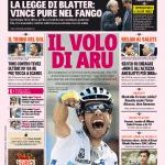 Gazzetta dello Sport – La legge di Blatter, vince pure nel fango