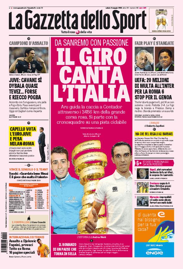 Gazzetta Dello Sport Giro Italia la Gazzetta Dello Sport Parla