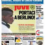 Corriere dello Sport – Juve portaci a Berlino