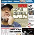 Corriere dello Sport – Diego 'Platini rispetti Napoli'